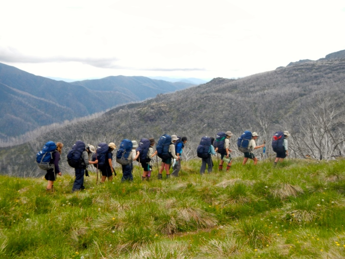 Group photo on the Bogong High Plains during the Year 9 Journey